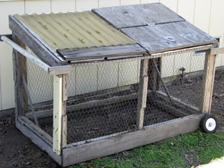 simple small chicken tractor